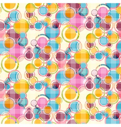 Abstract Retro Circles Seamless Background vector image vector image