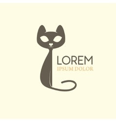 Cat logo Emblem template with cat silhouette vector image