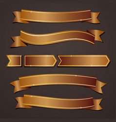collection set of variation bronze elegant vector image vector image