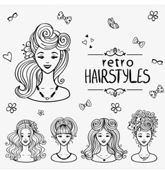 hairstyles black vector image vector image