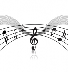 musical staff theme vector image vector image