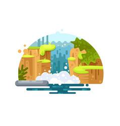 natural river waterfall vector image vector image