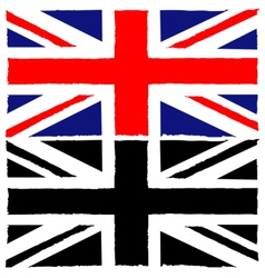 Painted Union Jack vector image vector image