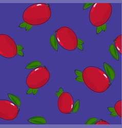 seamless pattern mango on purple background vector image vector image