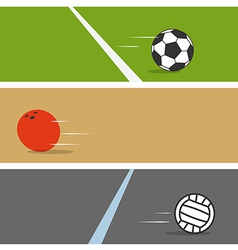 Sport ball collection vector image
