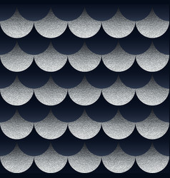abstract seamless geometric pattern with silver vector image vector image