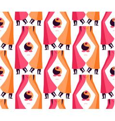 Beautiful retro woman legs seamless pattern vector image vector image