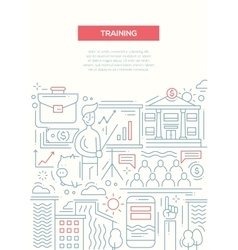 Business Training - line design brochure poster vector image vector image
