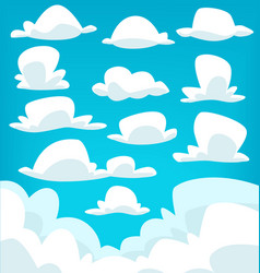 cartoon cloud drawing collection set vector image vector image