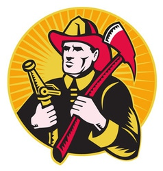 firefighter symbol vector image vector image