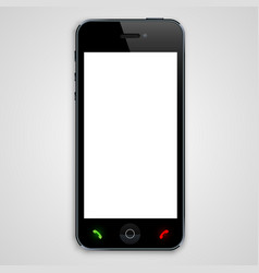 phone with a black screen vector image vector image