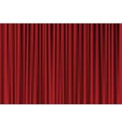 red background looking like curtain vector image