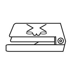 Stapler cute cartoon vector