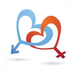Venus and Mars symbols vector image