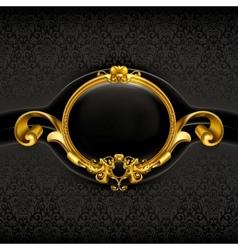 Vintage Black Frame vector image vector image