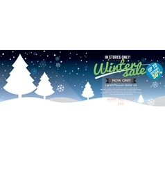 Winter Sale Up To 50 Percent Template vector image
