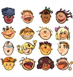 Kids face vector
