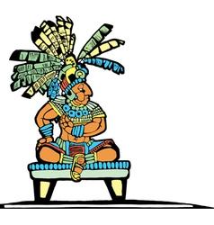 Mayan King vector image