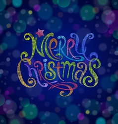 Multicolored Christmas greeting sign vector image