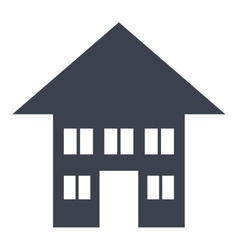 Real estate isolated flat icon vector image vector image