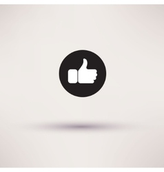 Thumbs up like modern icon flat style vector image