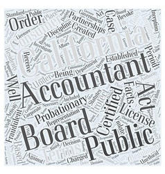 About the California Board of Accountancy Word vector image