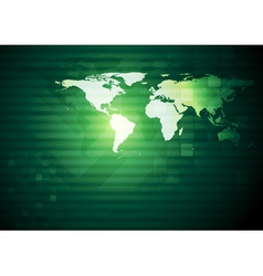 Abstract background with world map vector