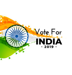 Abstract indian election banner design vector