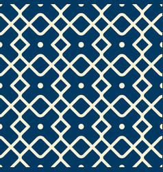 abstract vintage geometric seamless pattern vector image
