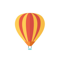 air balloon with a basket tourist vehicle striped vector image