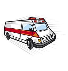Ambulance van vector