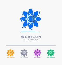 atom science chemistry physics nuclear 5 color vector image