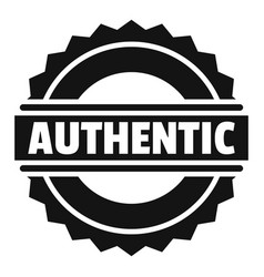 Authentic logo simple style vector