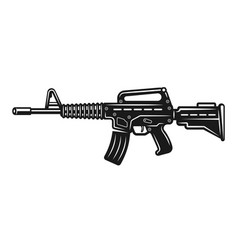 automatic rifle monochrome vector image