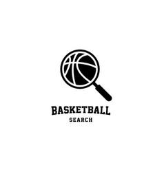 Basketball search logo design vector