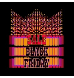 Black Friday sale colorful background vector