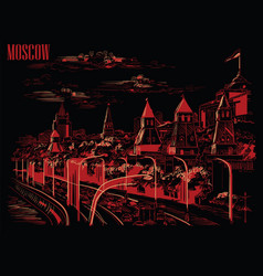 black-red moscow-2 vector image