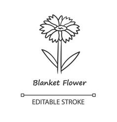 Blanket flower linear icon gaillardia aristata vector