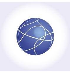 Blue Sphere logotype icon vector image
