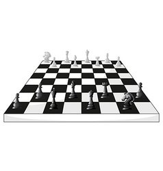 Boardgame of chess in black and white vector