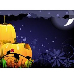 Bright ripe Halloween pumpkins vector