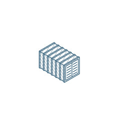cargo container isometric icon 3d line art vector image