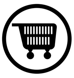 cart for supermarket icon black white vector image