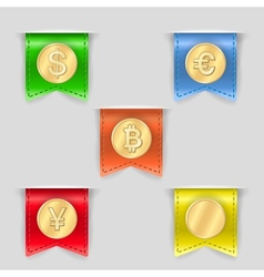 Cash icons set vector image