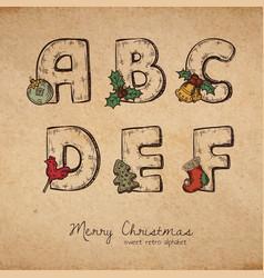 Christmas abc vector