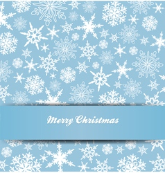 Christmas Snowflake Card Banner Invitation vector image