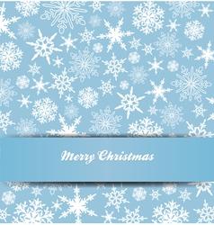 Christmas Snowflake Card Banner Invitation vector