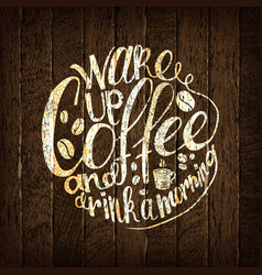 coffee time lettering vector image