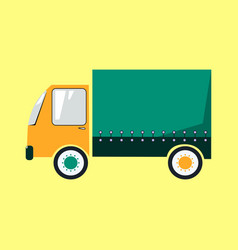colorful delivery truck cartoon style vector image