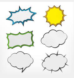 comic speech bubble set vector image